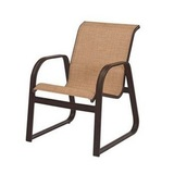 W3452BT - Cabo Aluminum Sling Sled Based Dining Arm Chair