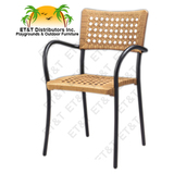 60050 - Artica Resin Aluminum Frame Patio Dining Chair w/ Arms