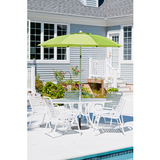 844fc- pba01 - 7 1/2 Acrylic Patio Umbrella w/ White Coated Aluminum Center Pole Crank with Tilt