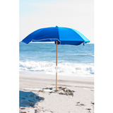 844FW-PBA01 - MOST POPULAR 7 1/2 Fiberglass Acrylic Beach Umbrella with Wood Center Pole
