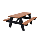 PBKPIC4CED-JH - A Frame Recycled Plastic Picnic Table