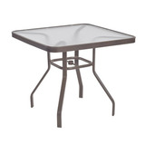 3218sa - 32 and 36 in. Square Aluminum Dining Tables Available- Acrylic