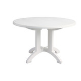 US243104 - Aquaba 48 in. Round Resin Patio Dining Table