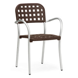 60250.05.000 - Nardi Aurora Resin Aluminum Frame Patio Dining Chair w/  Arms