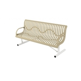 B6WBCLASSICWINGLINESM-WC - 6 Classic Wingline Steel Plastisol Park Bench