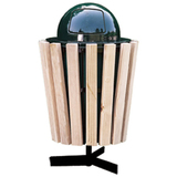 C160-LC - 22 Gallon Pine Receptacle