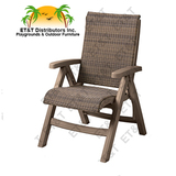 CT356037 - Grosfillex Java All Weather Wicker Resin Folding Chair