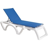 US376152 - Grosfillex Calypso Resin Adjustable Sling Chaise lounge
