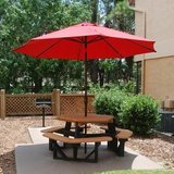PB6HEXCED-JH - MOST POPULAR  Hexagon Recycled Plastic Lumber Picnic Table