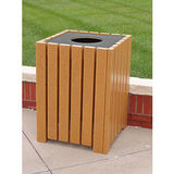 PB55SCEDHD-JH - Heavy Duty Square Recycled Plastic Receptacle