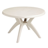 US526704 - Grosfillex Ibiza 46 in. Round Resin Patio Dining Table
