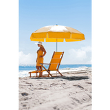 845AP-bga - 7 1/2 Acrylic and Vinyl Beach Steel umbrella Aluminum Center Pole w/ Manual Lift and No Tilt