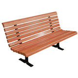 M1950-4-LC - Mahogany Deluxe Bench