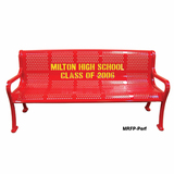 MRFP4-PERF-LC - Personalized Multi-color Perforated Bench Available in 4, 5, 6, and 8 Foot