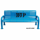 MULRF48-PERF-LC - Personalized Mult-icolor Perforated U-Leg Bench