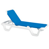 99404006 - Grosfillex Marina Style Resin Sling Chaise Lounge Chair w/o Arms