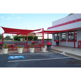 478 - Post and Sail Patio Shade Structure