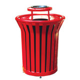 SR32-ABL-LC - 32 Gallon Receptacle with Ash Bonnet Lid