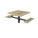 T46RCPED-2SM - Regal Style Square 2 seated Pedestal Plastisol Metal Picnic Table