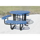 T46ROP-ADA - e- 46 in. Round Expanded Metal ADA Picnic Table