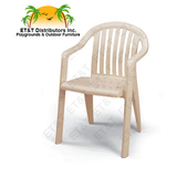 US282304 - Grosfillex Miami Lowback Resin Patio Dining Chair w/ Arms