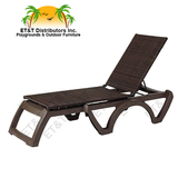 US465137 - Grosfillex Java Sling All Weather Wicker Chaise Lounge