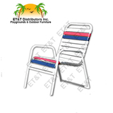W0350 - Country Club Aluminum Vinyl Strap Dining Chairs- MOST POPULAR
