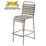 W0375 - Country Club Aluminum Vinyl Strap Bar Chair