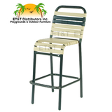 W1775  - Neptune Aluminum Vinyl Strap Bar Chair w/o Arms