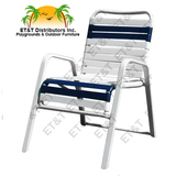 W1850 - Regatta Aluminum Strap Dining Chair