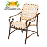 W3350 - West Wind Aluminum Cross Weave Dining Chair