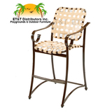 W3375 - West Wind Aluminum Crossweave Vinyl Strap Bar Chair w/ Arms