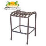 W3377 - West Wind Aluminum Crossweave Vinyl Strap Backless Bar Stool