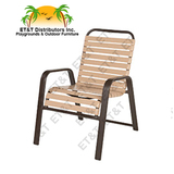 W7750 - Windward Anna Maria Aluminum Strap Dining Arm Chair
