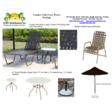 Est 42537 - Country Club Cross Weave Vinyl Outdoor Furniture Package