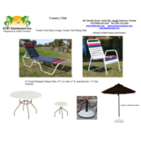 Est 42534   - Country Club Strap Vinyl Outdoor Furniture Package