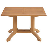US240808 - Grosfillex Atlanta 48 in. x  32 in. Rectangular Molded Melamine Dining Table