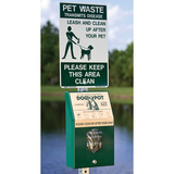 1203-DP - On the Leash Reflective Aluminum Pet Sign