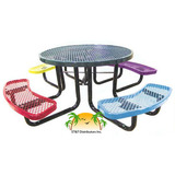 T46ROP-CHILD - Expanded Metal 46 in. Childrens Round Table