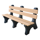 PB4BLACOLE-JH - Colonial Recycled Plastic Park Bench