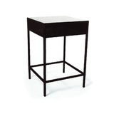 ROM320 - Roma Wicker Glass-Top Bar Table