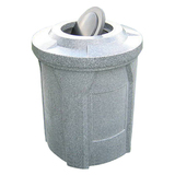 S710-KK - 42 Gallon Round Trash Receptacle with Bug Barrier Top