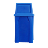 S780-KK - 32 Gallon Square Trash Receptacle w/ Waste Top