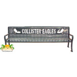 RDP4-LC - Signature Series Diamond Pattern Personalized Steel Park Bench