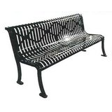 RFNA96D-LC - Diamond Steel Park Bench w/o Arms