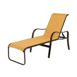 "W4610 - 16"" Seat Sonata Sling Aluminum Patio Chaise Lounge Chair"
