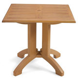 US240208 - Grosfillex Atlanta 32 in. or 36 in. Square Teakwood Molded Melamine Dining Table