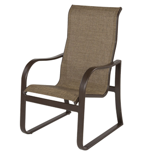 W0650HBBT - Corsica Aluminum High Back Sling Dining Chair