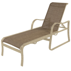 W0610 - Corsica Aluminum Sling Chaise Lounge