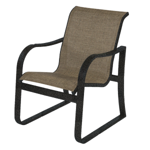 W0650BT - Corsica Aluminum Sling Dining Arm Chair
